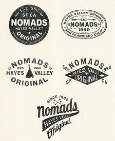 NOMADS_STAMPS.jpg (1200×1475) #logotype #bw #nomads #typography