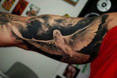 55 Peaceful Dove Tattoos #dove #tattoos