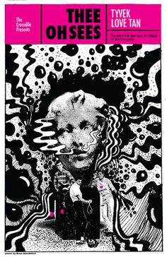 Thee Oh Sees Croc Poster Brian Standeford Design #poster #gig poster