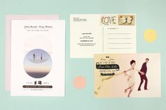 Max Wanger #postcard #wedding #invitation