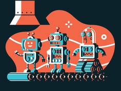 Robots insta dribbble hr