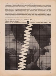 All sizes | Space Technology Laboratories Ad | Flickr - Photo Sharing! #geometry #wave #vintage #poster #science