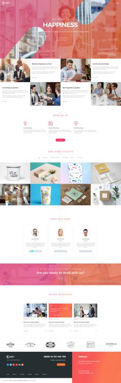 Owkey template offers 19 different pages and many shortcodes to build a creative website for any purpose. Use one of the 4 homepage variatio