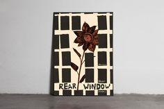 rear-window #movie #torn #illustration #poster #paper