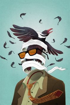 Ruffled Feathers | Michael Wandelmaier Illustration - Toronto Canada #illustration