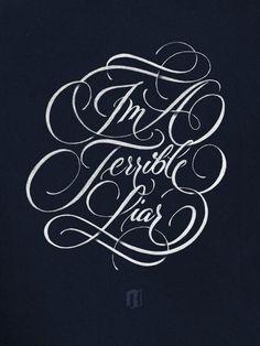 Ryan Hemrick Terrible Liar Typography #design #type #lettering #script