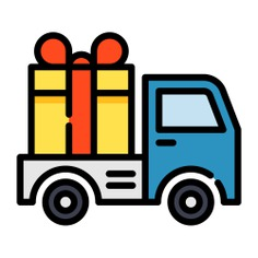 See more icon inspiration related to car, gift, delivery, transport, present, van, shipping and delivery, transportation, moving, automobile and vehicle on Flaticon.