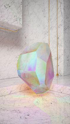 Crystal Series #marble #3D #iridiscent #animation #architecture #colour #minimal #crystal