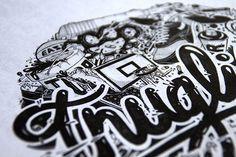 thug life nairone #thug #white #black #illustration #drawn #and #hand #life