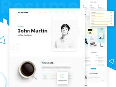 Modern and Interactive Web Resume Template