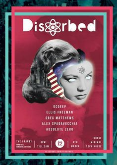 Disorbed flyer #branding #flyer #gig #typographic #illustration #identity #poster #music #layout #collage #typography