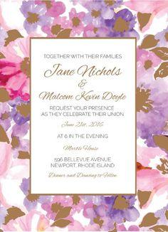 Spring - Wedding Invitations  #wedding #invitation #weddinginvitation #weddinginspiration #metallicprints #paperlust