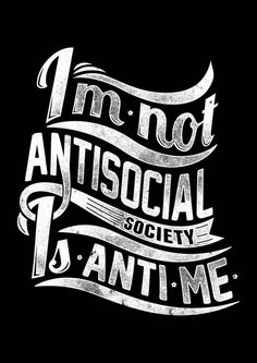 Not antisocial by Tshirt-Factory