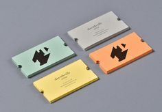 lovely stationery turnstile 6 #typography #business card #color