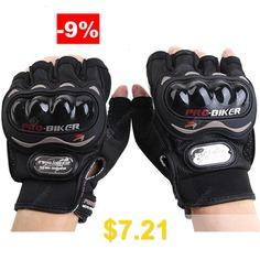 PROBIKER #MCS #- #04C #Motorcycle #Racing #Half #Finger #Gloves #- #BLACK