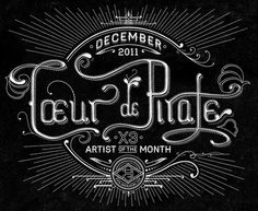 Dribbble - coeur-de-pirate-big.jpg by Ben Didier #lettering #hand #poster