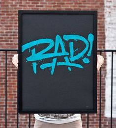 Typeverything.com Rad! Poster by 55 Hi's. - Typeverything #rad #typography