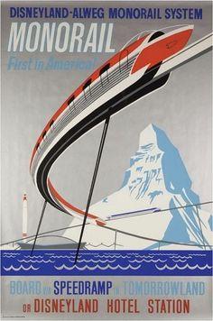 1959MonorailLrg.jpg (564×850) #disney #monorail #poster #disneyland