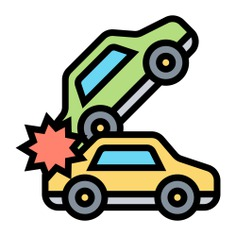 See more icon inspiration related to crash, danger, car crash, asphalt, atention, miscellaneous, transportation, accident, automobile, warning, cars, security, vehicle and transport on Flaticon.