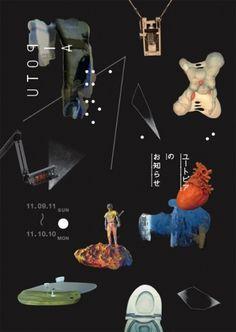 an aesthete (gurafiku: Japanese Poster: Notice of Utopia....)