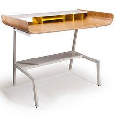 Skateboard inspired half pipe desk