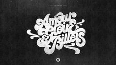 AMOUR GLOIRE #skill #design #craftsmanship #quality #type #typography