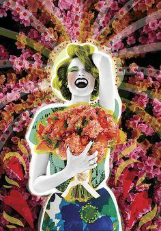 Sí acepto | Peperina Magenta #creative #arte #amor #woman #color #pinup #digital #ilustraciã³n #vintage #ilustration #art #collage #colour #love #work