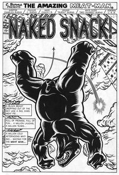 CHARLES BURNS NAKED SNACK 1991.jpg (600×887) #burns
