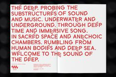 The Deep — Design for music festival
