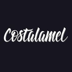 Costalamel branding by Virgulillas Design Studio Barcelona - https://www.behance.net/gallery/21841213/Costalamel-clothing #calligraphy #lettering #letters #script #branding #white #virgus #black #brand #virgulillas #brush #custom #barcelona #type #studio #bw #typography
