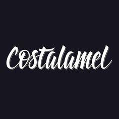 Costalamel branding by Virgulillas Design Studio Barcelona - https://www.behance.net/gallery/21841213/Costalamel-clothing #calligraphy #lettering #letters #script #branding #white #virgus #black #brand #virgulillas #brush #custom #barcelona #type #studio #bw #typography