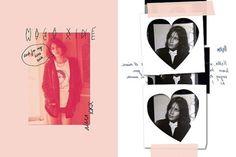 Design / Alexa Chung's Madewell Zine. #heart #layered #zine #chung #madewell #publication #mono #love #magazine #alexa