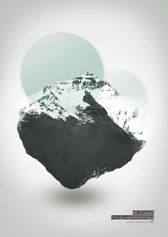 Mount Everest – The Surreal Northface – Illustration by Dirk Petzold | WE AND THE COLOR