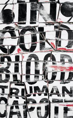 """In cold blood"" by Jonathan Gray. #design #graphic #typography"