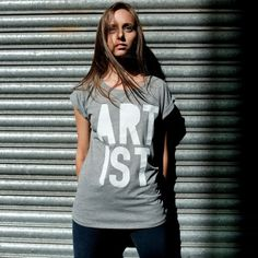 Artist Roll Sleeve (Grey) #typography #tshirt #fashion #photography #artist