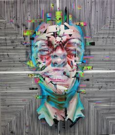 Justin Bower | PICDIT #design #paint #portrait #glitch #art #painting