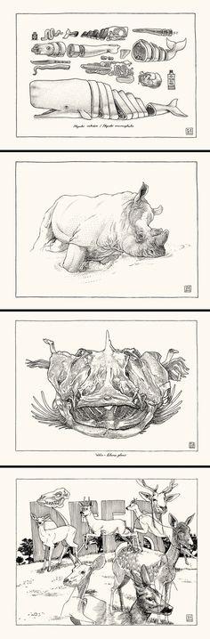BlackYard » Sketchbook animals_2013 #blackyard #2013 #illustration #animals #pencil
