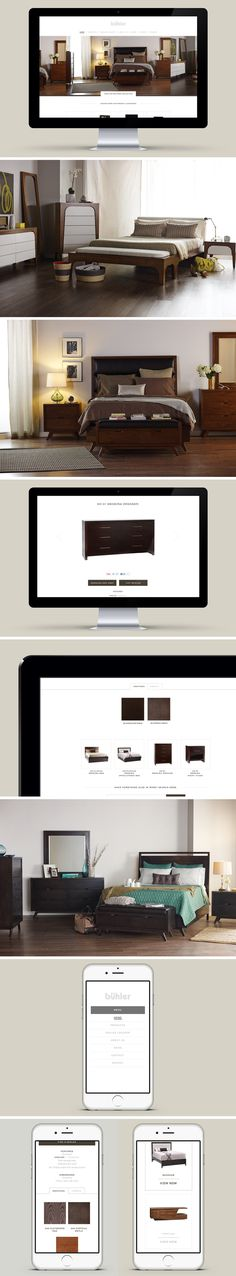 Buhler Furniture Website Design - One Plus One Design #Website #Design