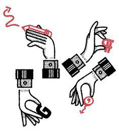 Illustration by Michael George Haddad #illustration #hand #icon #symbol #dollar #iconic #texture