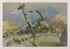 Paul Nash, The Messerschmidt in Windsor Great Park, 1940