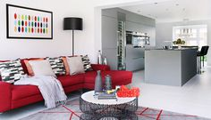 Contemporary open plan living room and #kitchen. #interiordesign