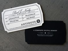 Art Of The Business Card – Black Paper « Beast Pieces #card #design