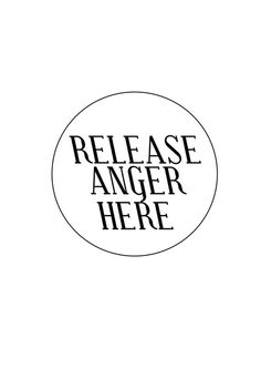 Release anger here #white #serif #release #minimal #poster #type #anger