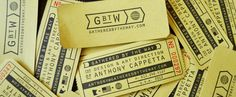 Gathered By The Way - Anthony Cappetta #globe #business #branding #tickets #industrial #identity #roll #personal #cards #ticket