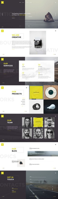 Antica — Multipurpose Business Agency & Personal Portfolio PSD Template by torbara