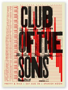 SCOTT CAMPBELL #club #sons #poster #typography