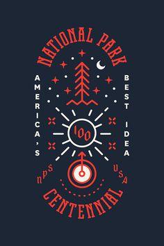 Happy Centennial NPS! #type #typography #poster #handdrawn #handtype #illustration