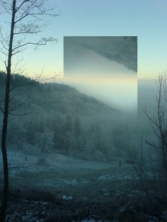 Zu Dir (weit weg) #sky #hill #photo #landscape #mirror #photography #manipulation #forest #trees