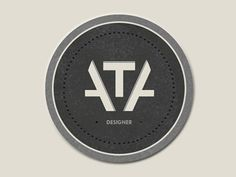 Dribbble - Personal Logo by timvanasch #logo #icon #designer #ata