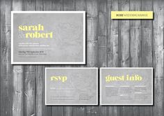 Rose wedding invite #invitation #print #yellow #wedding #grey